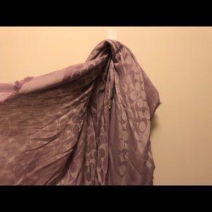 COACH Silk Scarf purple